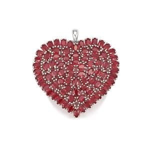 Malagasy Ruby Pendant  in Sterling Silver 28.10cts (F)