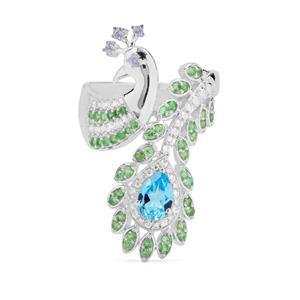 1.76ct Kaleidoscope Gemstone Sterling Silver Ring