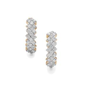 3/4ct Canadian Diamond 9K Gold Tomas Rae Earrings