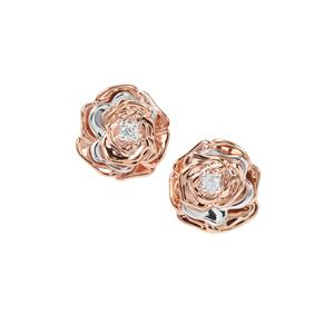Argyle Diamond Earrings in 9K Two Tone Gold 0.06ct