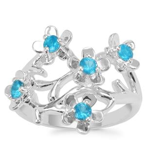 Neon Apatite Ring in Sterling Silver 0.60ct