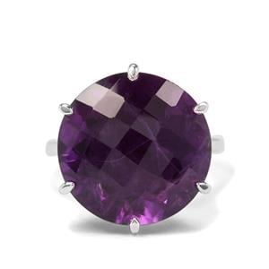 15.59ct Zambian Amethyst Sterling Silver Ring