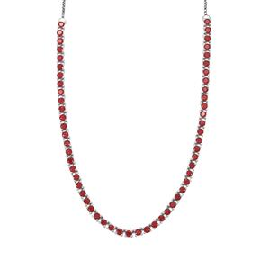 9.64ct Malagasy Ruby Sterling Silver Slider Necklace (F)