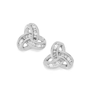 Diamond Earrings in Sterling Silver 0.26ct