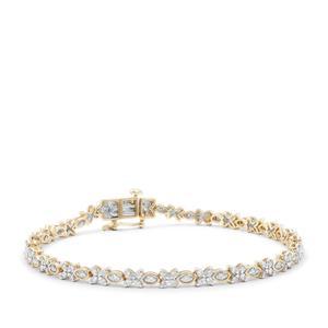 Argyle Diamond Bracelet in 9K Gold 1.50cts