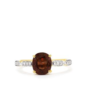 Colour Change Garnet & Diamond 18K Gold Tomas Rae Ring MTGW 2.71cts