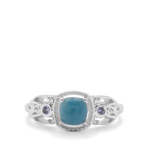 Thor Blue Quartz & Tanzanite Sterling Silver Ring ATGW 1.18cts