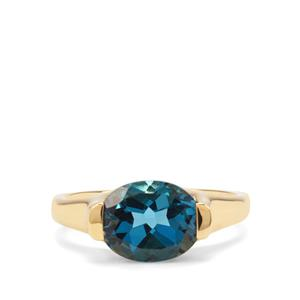 3.19ct Marambaia London Blue Topaz Midas Ring