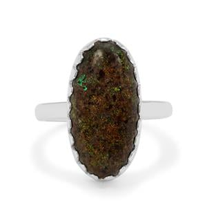 Andamooka Opal Ring in Sterling Silver 5.50cts