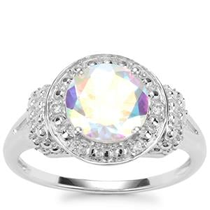 Mercury Mystic Topaz Ring with White Zircon in Sterling Silver 2.34cts