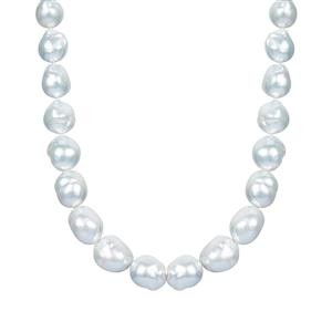 South Sea Cultured Pearl (9x9mm) Necklace  in Sterling Silver