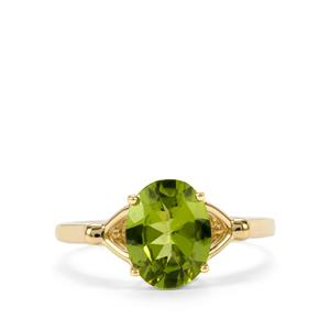 Changbai Peridot Ring in 10k Gold 2.23cts