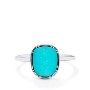 Cochise Turquoise Ring in Sterling Silver 1.82cts