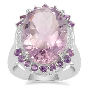 Rose De France Amethyst Ring in Sterling Silver 14.81cts