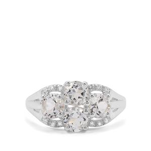 2.52ct White Topaz Sterling Silver Ring