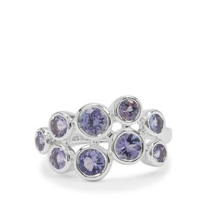 Tanzanite Ring in Sterling Silver 1.95cts