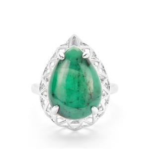 Minas Velha Emerald Ring in Sterling Silver 10.73cts