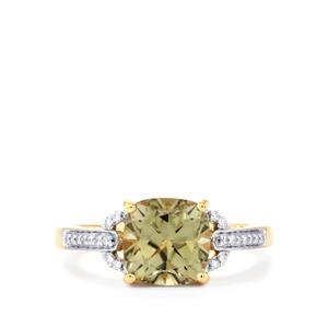 Csarite® Ring with Diamond in 18k Gold 2.81cts