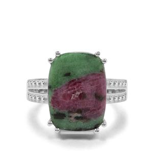 13.83ct Ruby-Zoisite Sterling Silver Ring
