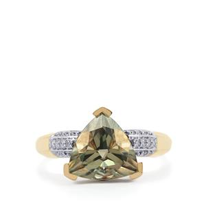 Csarite® & Diamond 18K Gold Ring MTGW 4.24cts