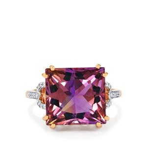 Anahi Ametrine Ring with Diamond in 14k Rose Gold 7.81cts