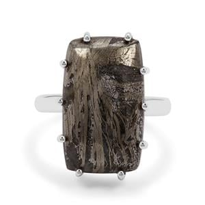 16.50ct Feather Pyrite Sterling Silver Aryonna Ring