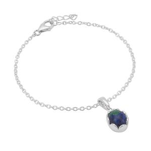 3.11ct Azure Malachite Sterling Silver Bracelet