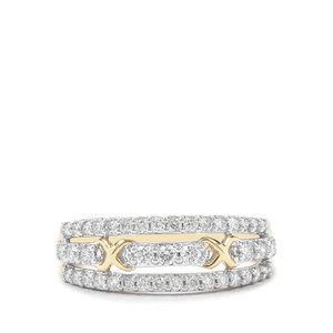 Argyle Diamond Ring in 9K Gold 0.51ct