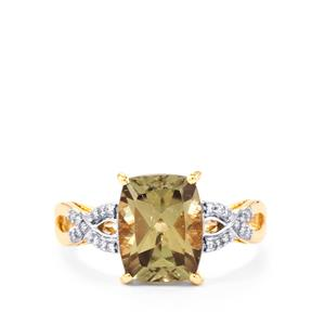 Csarite® Ring with Diamond in 18k Gold 3.41cts