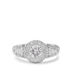 Singida Tanzanian & White Zircon Sterling Silver Ring ATGW 1.31cts