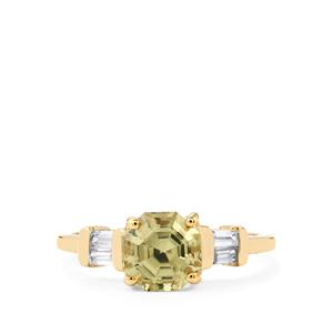 Csarite® Ring with White Zircon in 10k Gold 2.09cts