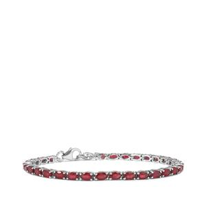 Malagasy Ruby Bracelet in Sterling Silver 10.40cts (F)