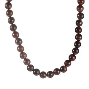 321.80ct Red Tiger's Eye Sterling Silver Necklace