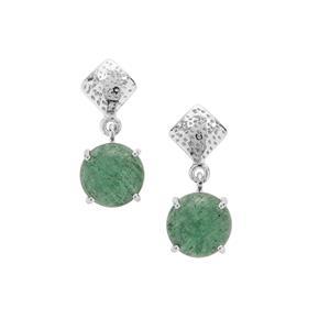 Kiwi Quartz Earrings in Sterling Silver 14cts