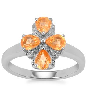 Mandarin Garnet Ring in Sterling Silver 1.70cts