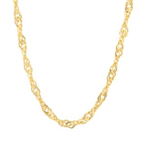 "24"" Midas Classico Diamond Cut Twisted Curb Chain 3.78g"
