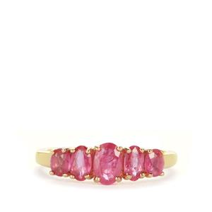Montepuez Ruby Ring in 9K Gold 1.51cts