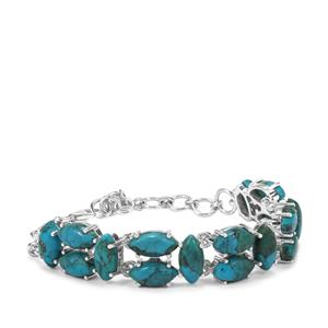Sonora Turquoise Bracelet in Sterling Silver 25.40cts