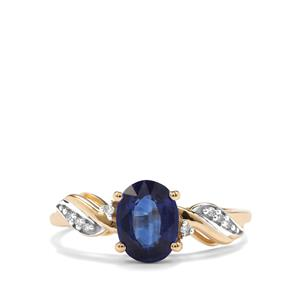 Daha Kyanite & Diamond 10K Gold Ring ATGW 1.61cts