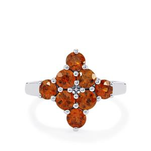 2.66ct Cognac Zircon Sterling Silver Ring