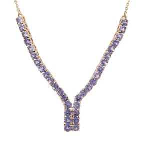 4.15ct AA Tanzanite 9K Gold Tomas Rae Necklace