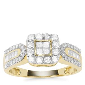 Diamond Ring in 9K Gold 0.74ct