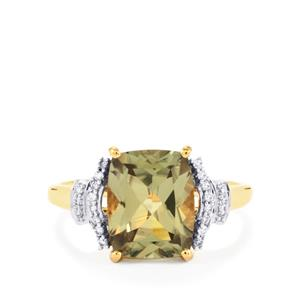 Csarite® Ring with Diamond in 18K Gold 3.96cts