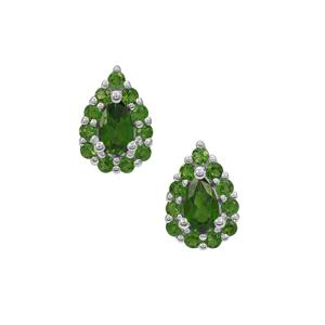 Chrome Diopside Earrings in Sterling Silver 0.95ct