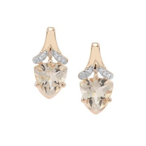 Serenite Earrings with White Diamond in 9K Gold 3.10ct