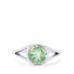 Tucson Green Fluorite Ring in Sterling Silver 2.21cts