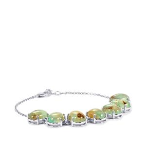 34.96ct Aquaprase™ Sterling Silver Bracelet