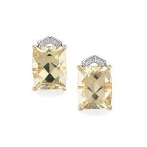 Serenite & Diamond 10K Gold Earrings ATGW 5.56cts