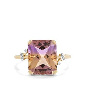 Anahi Ametrine Ring with Diamond in 10k Gold 5.24cts
