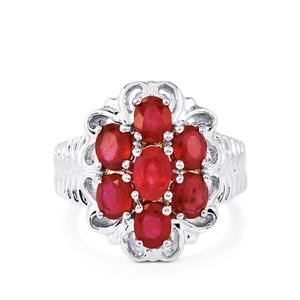 3.87ct Madagascan Ruby Sterling Silver Ring (F)